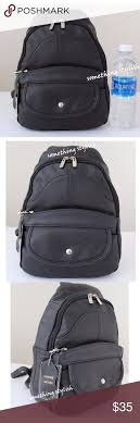 Tear <b>Drop</b> Sling Black Leather Backpack Material: Cow Leather Size ...
