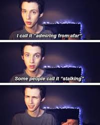 I call it admiring from afar. some people call it stalking ... via Relatably.com
