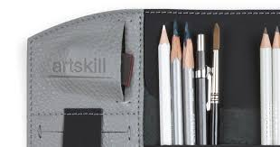 Artskill PRO - Professional leather <b>pencil case</b> for <b>pens</b> and pencils ...