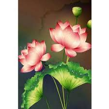 Diamond Painting Full Diamond Embroidery Flowers Lotus ... - Vova