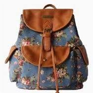 <b>Women</b> Floral <b>Print Casual Canvas</b> Backpack Rucksack Cute ...