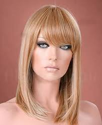 Forever Young UK Ladies <b>Long Straight Side Bangs Fringe</b> Honey ...
