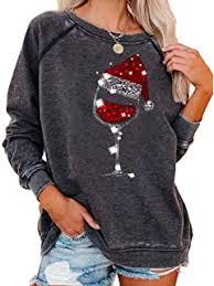 Newest Women's <b>Christmas Santa</b> Hat Graphic <b>Print</b> Sweatshirt ...