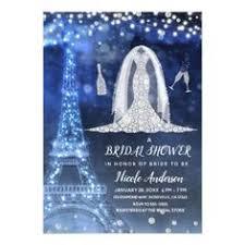 Snowflakes <b>Diamond Wedding</b> Dress Bridal Shower <b>Invitation</b> ...