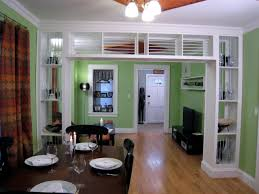 Living Room With Bookcase Built In Bookcase And Room Divider Hgtv