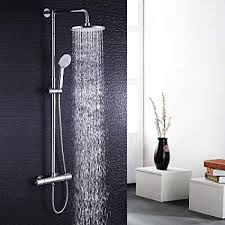 Hausbath Thermostatic Bathroom Modern Chrome Bath Shower ...