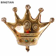 BINGTIAN mini large gold crown <b>helium balloon princess</b> crown <b>foil</b> ...