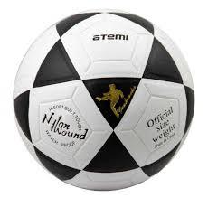 <b>Мяч</b> футбольный <b>Atemi GOAL PVC</b> бел/чёрн., размер 5 ...