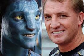 Avatar v Brendan Rodgers Too good. Too good. Brendan Rodgers (left) and Jake from Avatar. Spotted by Nigel Thompson - Avatar-v-Brendan-Rodgers