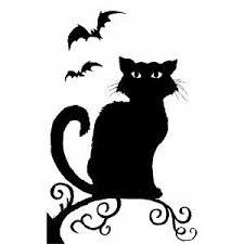 love halloween window decor: spooky hollow halloween window decoration witch or cat silhouette witch amazonco