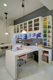 custom craft desk station and furniture full wall unit 6 stunning light wood in sewing office and craft unit with tv and built from floor to ceiling beautiful office desks shaped 5