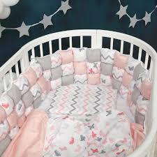 <b>Комплект</b> в кроватку <b>Happy Family Studio</b> Пуфборт Бабочки (6 ...