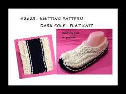 <b>Knitting</b> Pattern, DARK SOLE <b>FLAT KNIT</b> 2 NEEDLE BEGINNER ...