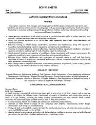 oilfield construction consultant resume template   premium resume    oilfield construction consultant resume