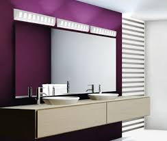 a modern bathroom with purple walls and ceramic vanity lights bathroom vanity lighting pictures