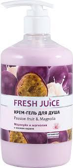 <b>Крем</b>-<b>гель</b> для <b>душа Fresh</b> Juice Passion fruit & Magnolia 750мл, в ...