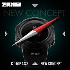 2017 SKMEI Brand Compass <b>Watches</b> 5ATM Water Proof Digital ...