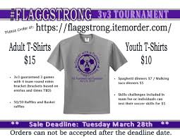 flagg3v3 welcome to maumee soccer and ut football and some great baskets do you need a team email kim at keeker79 hotmail com the age and sex individual entry will be 15