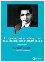 an equation means nothing to me unless it expresses a thought of remembering srinivasa ramanujan a remarkable mathematical genius ramanujan was an n mathematician who displayed a natural ability in mathematics