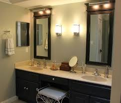 bathroom fascinating modern vanity lights light vertical black stained wooden frame wall mirrors under fixture combined bathroom lighting black vanity light fixtures ideas