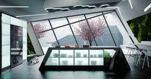 modern kitchen setup:  geometric kitchen design