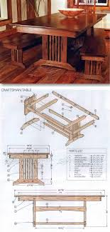 dining table woodworkers: craftsman style dining table plans furniture plans and projects woodarchivistcom
