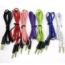 Blue <b>Color</b> iSimple ISMJ53BL <b>3.5 Mm</b> Wide Flat <b>Aux Audio Cable</b> 3 ...