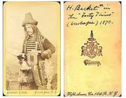 th century actors and theater photographs    harry beckett in costume in a production of the burlesque forty thieves