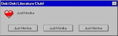 Just <b>Monika</b> : <b>Error</b> Message | Doki Doki Literature Club! Amino