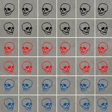 ideal decor skull wall stickers waterproof ideal for walls tiles glass ceramics wo