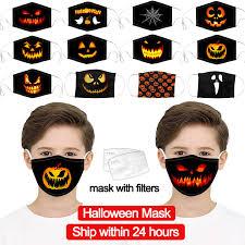 Fast Delivery Children <b>Halloween</b> M ask <b>Outdoor</b> Scarf <b>Pumpkin</b> ...