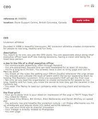 the world    s most interesting job descriptions  photos    linkedin    intersting job descriptions lululemon ceo