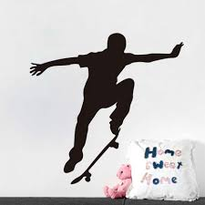 Fashion Skate <b>Wall Decal Vinyl</b> Skateboard Extreme Sports Wall ...