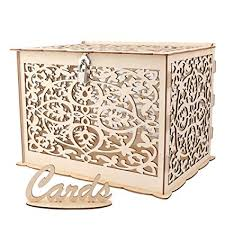 Aytai DIY Rustic Wedding Card Box with Lock and ... - Amazon.com