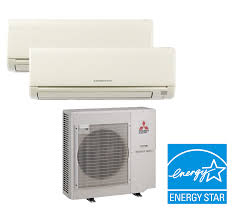 Mitsubishi Ductless Mitsubishi Mxz 2b20na 2 Zone Heat Pump With Two 2 9000 Btu