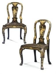 italian black lacquer chinese chippendale dining a pair of chinese export black and gold lacquer side chairs circa