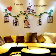 2015 creative 3d love birds acrylic wall stickers bedroom furniture living room sofa tv backdrop entrance acrylic bedroom furniture