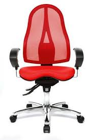 orthoseat health chair with red seat and black elements aspera 10 executive office nappa leather brown