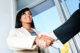 How to Negotiate Salary Without Getting Your Job Offer Pulled | On ... Business woman shaking hands with a colleague. Approach a salary negotiation ...