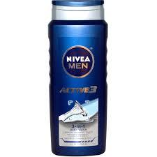 Отзывы Nivea, <b>Актив 3</b>, <b>Мужской гель</b> для душа 3-в-1, 500 мл (16 ...