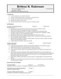 resume for child care robinson brittnei childcare resume child sample resume for daycare teacher