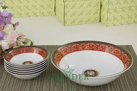 <b>Набор салатников</b> 7 предметов <b>Сабина</b>, <b>Версаче</b>, Красная лента ...