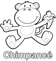 Download - Colorear un chimpancé.
