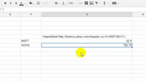 how to get yahoo finance quotes in google spreadsheet how to get yahoo finance quotes in google spreadsheet