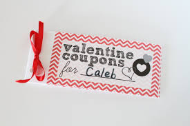 valentines day coupon book for kids i can teach my child use a ribbon to tie the coupon booklet together