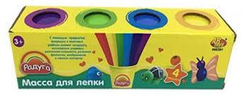 <b>Масса для лепки ABtoys</b> Радуга 4 цвета (065931) — купить по ...
