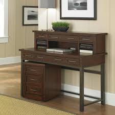 cool brown and white vintage room design idea come with classic home office desk design and dark wood home office desk with black frames and multiple amazing vintage desks home office