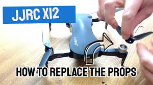<b>JJRC x12</b> propeller: how to <b>replace</b> after a <b>drone</b> crash - YouTube