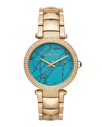 women s watches bracelet watches at neiman marcus last call 39mm parker glitz bracelet watch gold turquoise