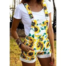 <b>S</b>-<b>2XL Women</b> Sunflower <b>Print</b> Pattern Strap Dress Female Summer ...